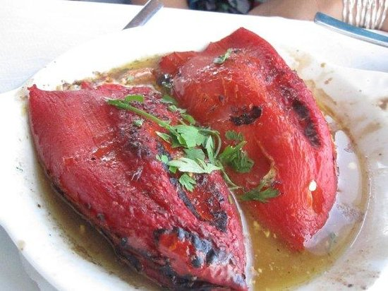 Mario No 1: Stuffed Sweet Red Peppers, really good!