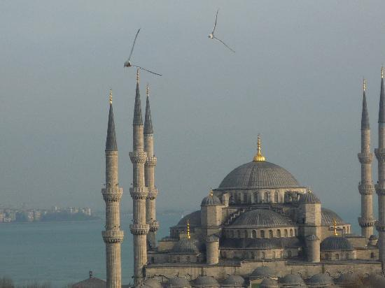 Nena Hotel: The Blue Mosque from the roof terrace