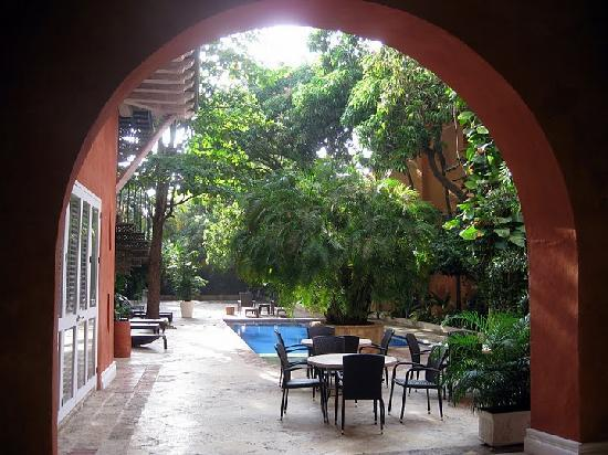 Casa Pestagua Hotel Boutique, Spa: Pool courtyard