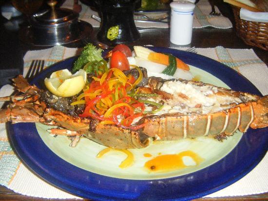 Heritage Village Resort & Spa Goa: lobster at mango terrace