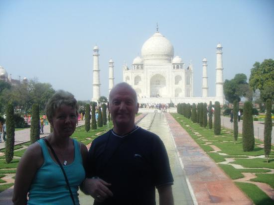 Heritage Village Resort & Spa Goa: us at taj mahal on the golden triangle trip