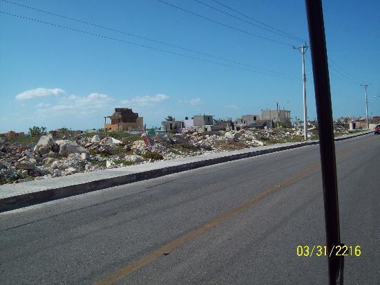 Isla Mujeres, Mexico: ruble from the last hurricane I assume