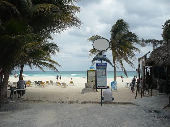 Playa del Carmen, Mexico: salida a la playa