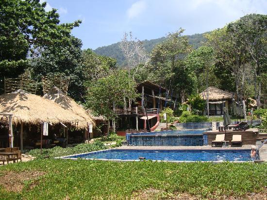 LaLaanta Hideaway Resort: View from beach