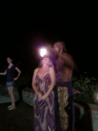 Stonefield Villa Resort: Fire eaters - Thursay barbecue entertainment at Stonefield