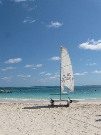 Now Larimar Punta Cana: Catamaran on the beach