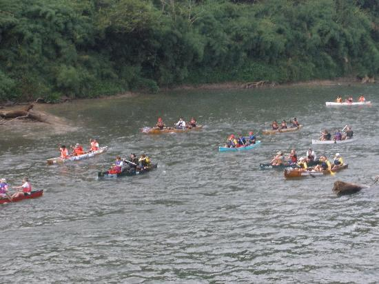 Belize Jungle Dome: Four-day canoe race on the Belize River