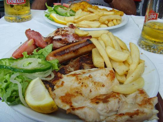 Paradero II: Mixed Grill on the seafront, 6.95 Euro !!!!!!