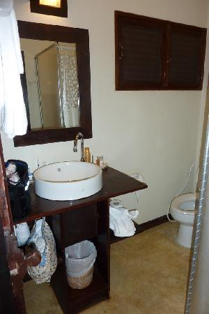 Lanna Dusita Riverside Boutique Resort: Very small and dated bathroom.