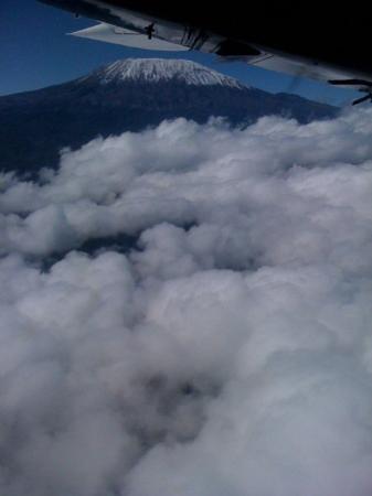 Mombasa, Kenya: Mt. Kilamanjaro (sp) - view from plane