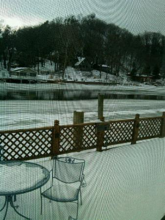 Saugatuck, MI: View Downriver from our Suite