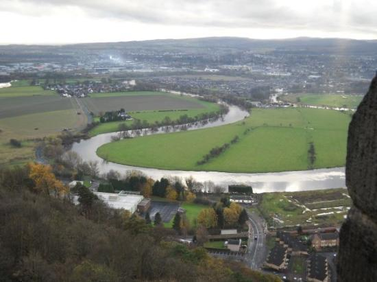 Stirling, UK: Veiw from atop the monument