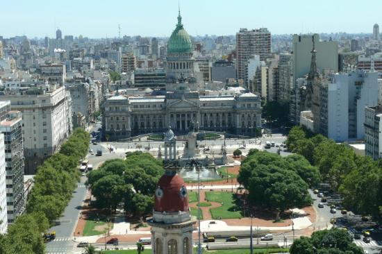 Palacio Barolo (Palazzo Barolo): panoramic view from the second highest building in Buenos Aires ,Palacio Barolo