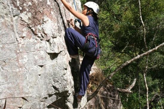 Da Lat, Vietnam: Rock climbing at Dalat.