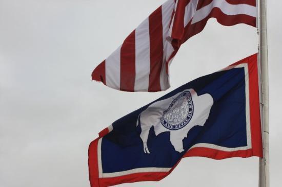 Eden, Wyoming: Wyoming flag
