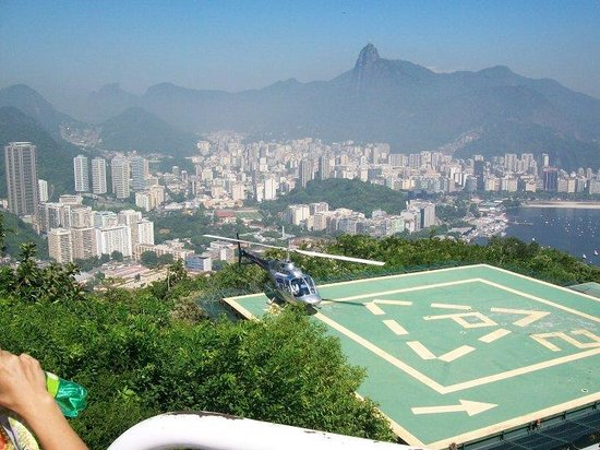 Sugarloaf Mountain: The helipad at Sugar Loaf