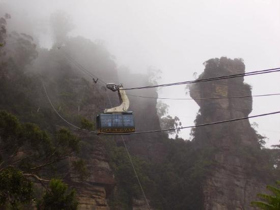 Blue Mountains National Park, Australia: Cable car in the Blue Mountains