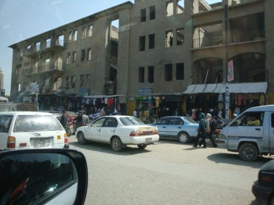 We took an alternate route after a bomb attack.  I got some Kabul street scenes I normally would