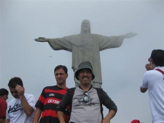 Kristusstatuen i Rio de Janeiro: @ the top of Corcovado mountain, Rio de Janiero