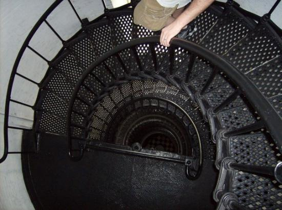 St. Augustine Lighthouse & Maritime Museum: looking down