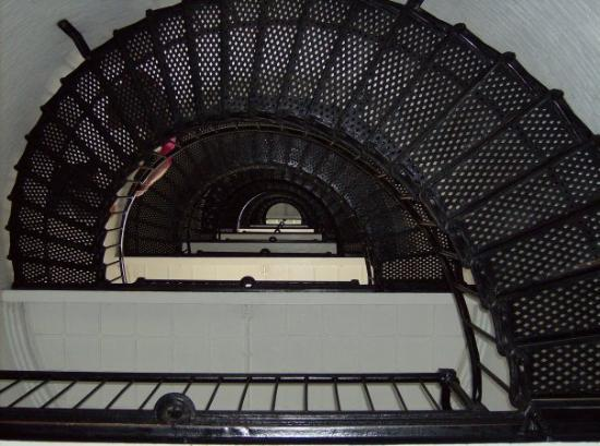 St. Augustine Lighthouse & Maritime Museum: looking up the 219 step flight of stairs