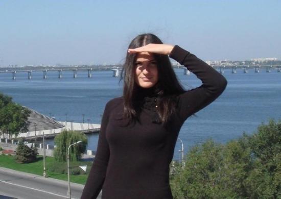 Dnipropetrovsk, Ukraine: Украина, Днепропетровск. Позади, конечно, Днепр! (Ukraine, Dnieper River)