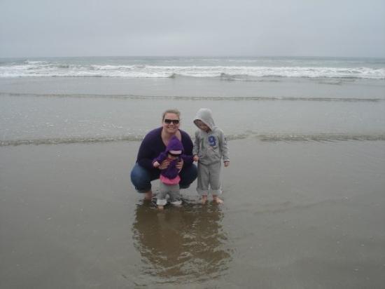 Morro Bay, CA: The kids and Me.