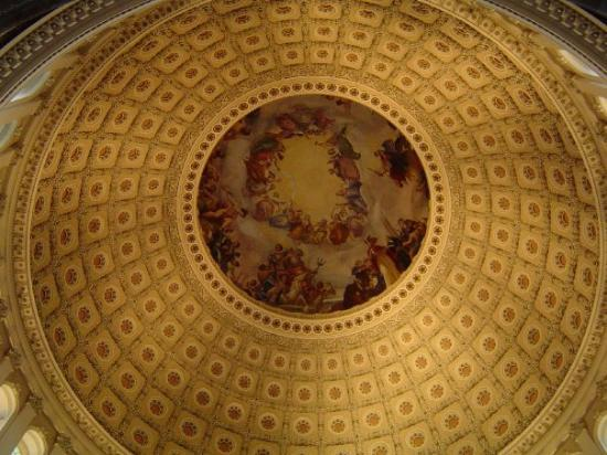 Library of Congress: I wish I remembered what building this BEAUTIFUL mural on the ceiling is in...