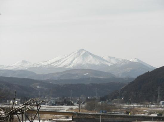 Towada, Japan: Snow-capped mountains I can see from my house