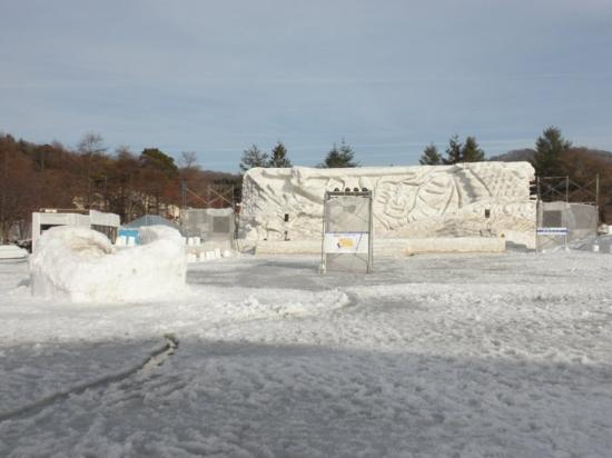 Towada, Japan: The Ice Festival stage... nothing going on during the day tho...
