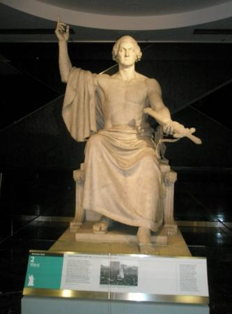 National Museum of American History: The ORIGINAL Washington Monument (I truly don't believe that this depiction of George is 'true-t