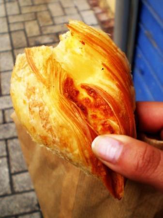 St. Julians, Malta: patizzi - yummy maltese pastry with soft cheese inside