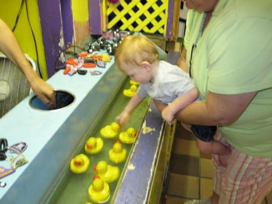 Ocean City, MD: Playing the duck game with Nana.