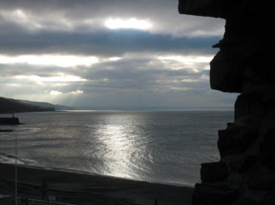 Aberystwyth, UK: glimmer of light on the bay
