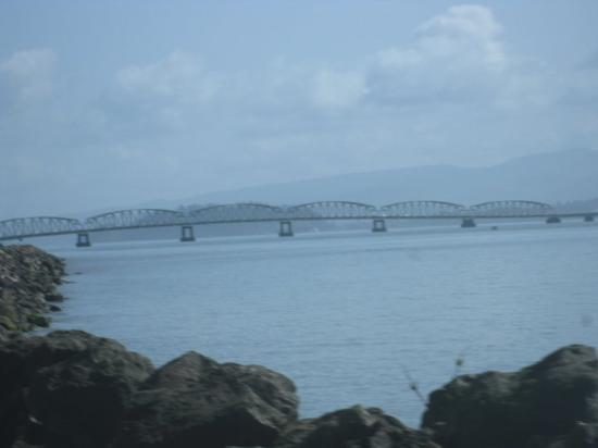 Astoria, OR: they say its the largest free standing bridge