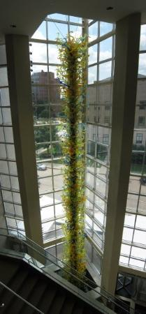 Oklahoma City Museum of Art : 3 Story Blown Glass Tower