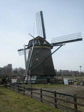 Haag, Nederland: historical Dutch windmill