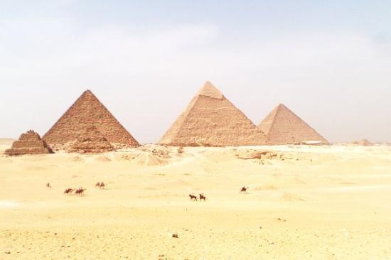 Kheopspyramiden: Pyramids at Giza (Egypt)