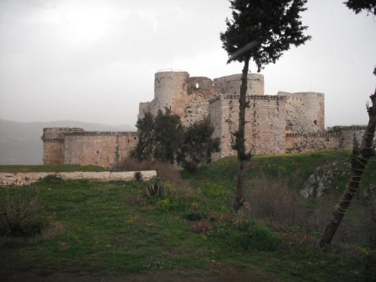 Damaskus, Syria: Castillo Crak de los Caballeros, mas alla de Homs