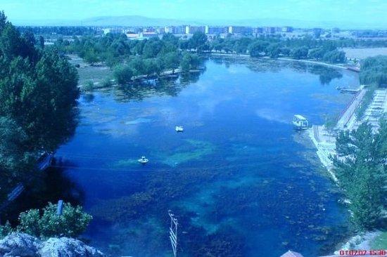 Elbistan, Tyrkia: pınarbaşı ceyhan nehri doguyor....