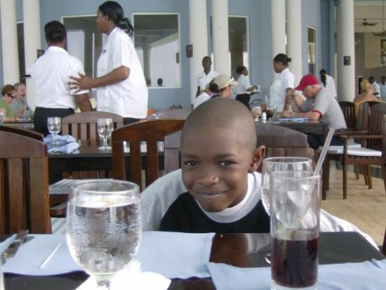Grand Palladium Lady Hamilton Resort & Spa: Big E loves fine dining  anywhere, he loved  this in Jamaica