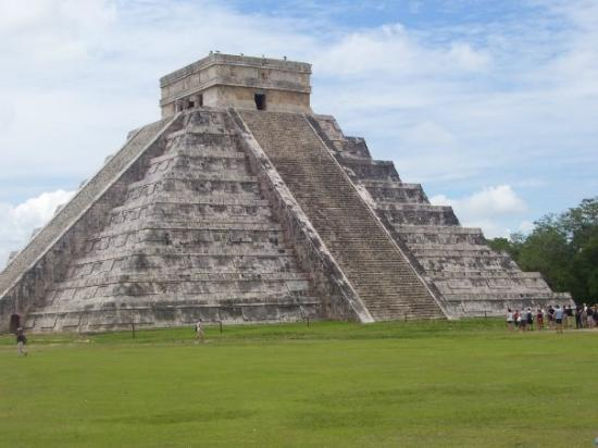 The Pyramid of The Sun at Chichen Itza in Mexico. What an awe inspiring place!