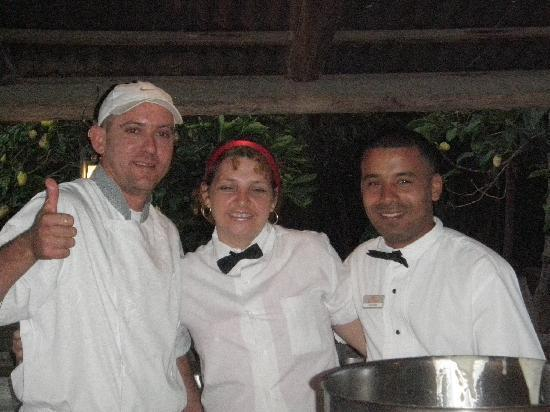 Tryp Cayo Coco: Great staff from the BBQ restaurant