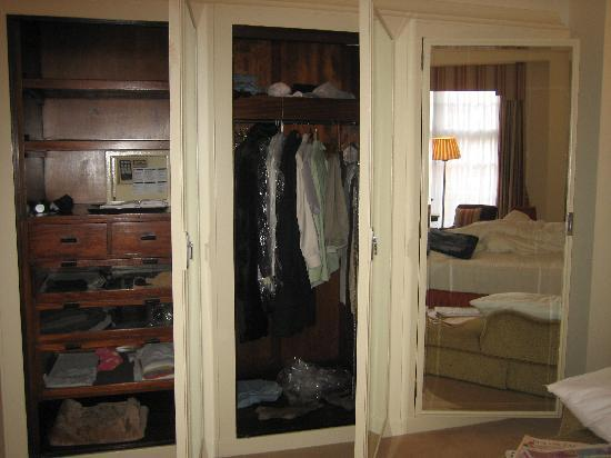 Claridge's: A couple of open closets - there were 2 rooms of them!