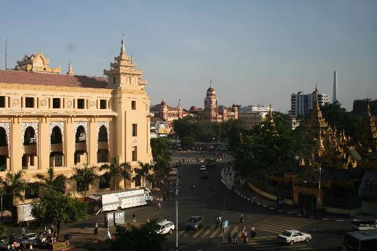 May Shan Hotel: La vue de notre chambre au 5e étage