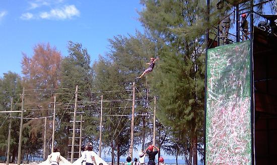 Sibu Island Resort: flying fox