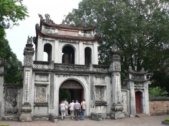 Litteraturtempelet og nasjonalt universitet: The Great Portico, Temple of Literature - Hanoi