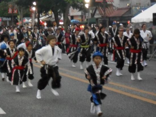 Okinawa City, Japan: Cute kids and their tieco drumming..