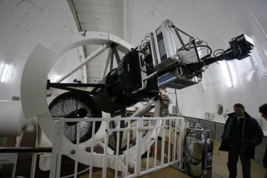 Santa Cruz de la Palma, Spania: Inside the INT (Isaac Newton Telescope)