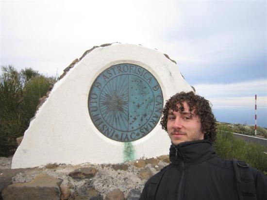 Puerto de la Cruz, Spania: Alex at the entrance of the solar Observatories at Tenerife. We needed a permit to visit them bu